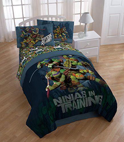 Nickelodeon Teenage Mutant Ninja Turtles Dark Ninja Full Sheet Set Ninja Turtle Room Turtle Room Tmnt Bedroom