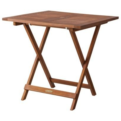 Smith & Hawken Wood Folding Square Patio Dining Table $75