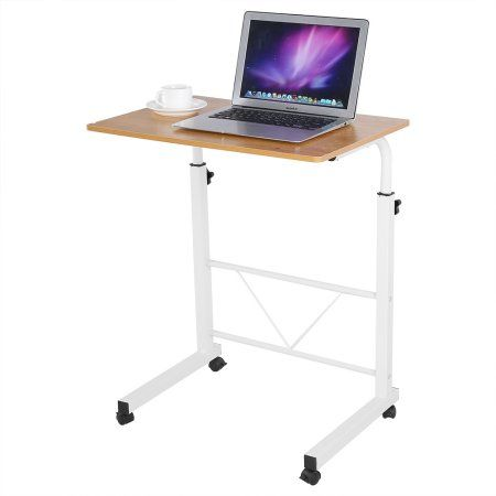 Yosoo Laptop Rolling Cart Portable Desk Height Adjustable Laptop Computer Table Standing With Wheels For Home Office Portable Desk Desk Adjustable Height Desk