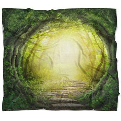 East Urban Home Landscape Photography Magic Forest Blanket Size 59 W X 71 L Forest Landscape Fantasy Forest Background For Photography