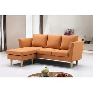 Small Sectional Sofas You Ll Love Wayfair Mid Century Modern Living Room Sectional Sectional Sofa