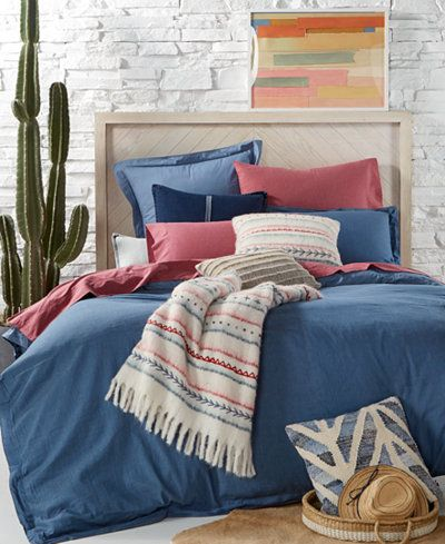 Tommy Hilfiger Blues Sunkissed Denim Bedding Collection Red Bedding Comfortable Bedroom Bedding Collections