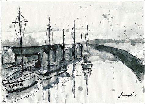 Print Art Ink Drawing Sketch Watercolor Aquarelle Reproduction