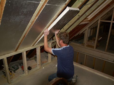 Rafters Insulated In A Loft Conversion Loft Conversion Barn Loft Apartment Loft Conversion Insulation