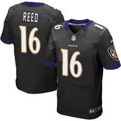 78.00--David Reed Jersey - Elite Nike Stitched Purple Home Baltimore Ravens   16 Jersey a03aa748e