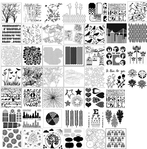 The Crafters Workshop Stencil Template MULTIPLE DESIGNS AVAILABLE! Mask