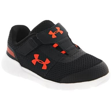 Under Armour Surge B Inf Rn Lace Athletic Shoes Baby Toddler Black Athletic Shoes Kids Shoes Shoes