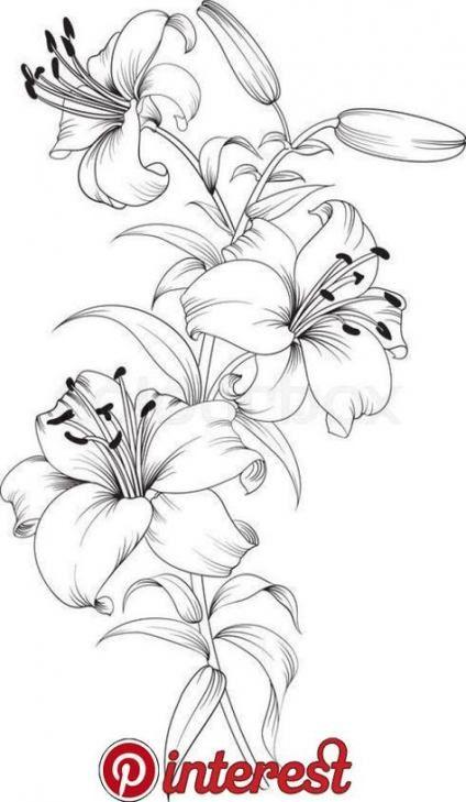 37 Ideas For Flower Art Tattoo Watercolors Flower Sketches Beautiful Flower Drawings Flower Drawing