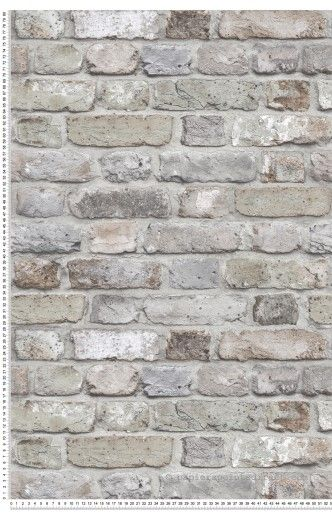Mur De Briques Vert De Gris Collection Authentic 2 De