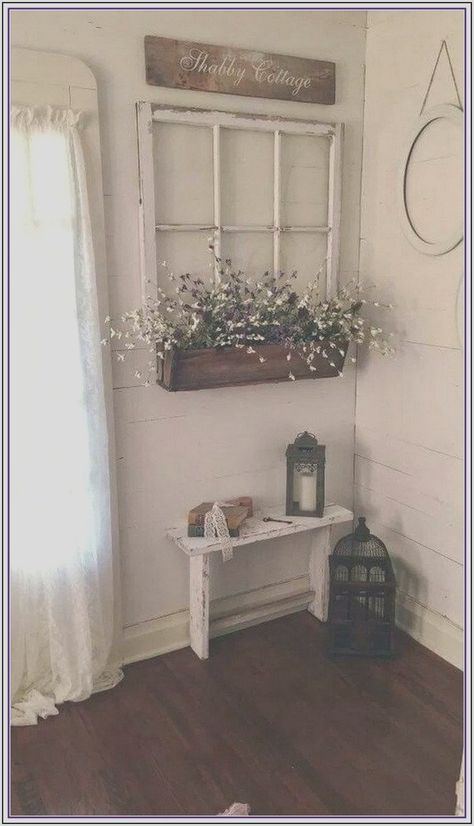 28 Cool Traditional Farmhouse Decor Ideas For Your Entire House Entryway and Hallway Decorating Ideas COOL Decor Entire Farmhouse House Ideas Traditional Shabby Chic Farmhouse, Country Farmhouse Decor, Shabby Chic Kitchen, Farmhouse Furniture, Rustic Decor, Country Chic Decor, City Farmhouse, Shabby Chic Living Room Decor, Shabby Chic Hallway