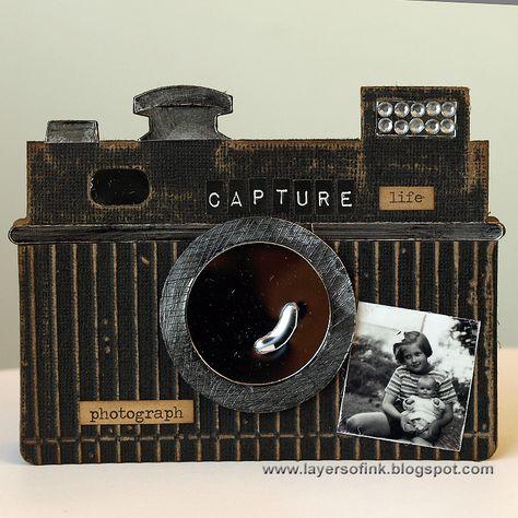 Sizzix Inspiration | Vintage Camera Card by Anna-Karin Evaldsson