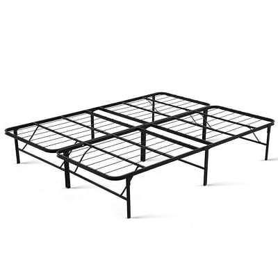 Queen Size Duoclev Bed Frame Folding Base Metal Portable
