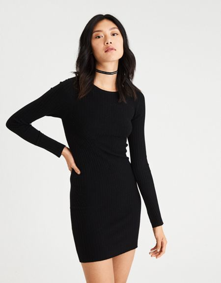 0fb96d34d2f American Eagle Outfitters AE Ahh-Mazingly Soft Ribbed Bodycon Sweater Dress