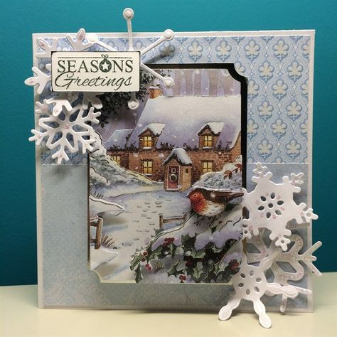 ANITAS FOILED TOPPERS WINTER ROSE FOR CARDS /& CRAFTS