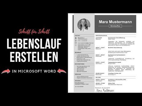 Professioneller Lebenslauf Schreiben Tabellarisch Modern Kreativ In Word Tutorial Youtube Professioneller Lebenslauf Lebenslauf Lebenslauf Schreiben