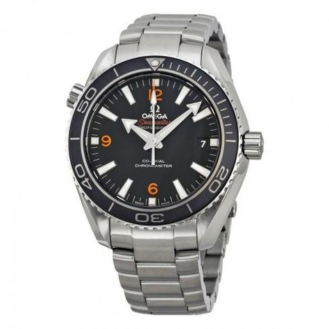 Omega Seamater Planet Ocean Automatic Watch on SS Bracelet $3645  free shipping #LavaHot http://www.lavahotdeals.com/us/cheap/omega-seamater-planet-ocean-automatic-watch-ss-bracelet/110632