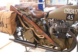Oldmotodude 1940 Bsa M20 Military Model On Display At The St Francis Motorcycle Museum Kansas Military Motorcycle Motorcycle Museum Bsa Motorcycle