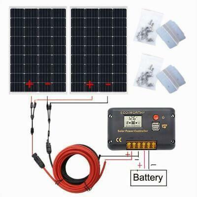 Advertisement 240watt Solar Kit 2 120w Pv Solar Panel High Efficiency For 12v System Rv Boat Solar Panel Charger Solar Panel Kits Solar Panel Battery