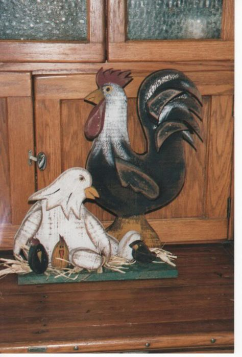 Primitive Wooden Patterns Free | ... chicken family pattern description # wsp501 chicken family pattern