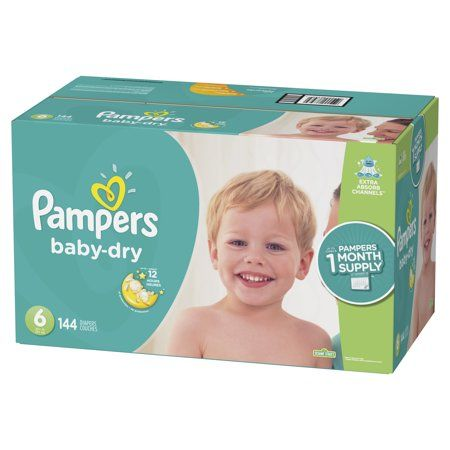 **BEST DEAL IN US** Choose Your Size Pampers Baby Dry One-Month Supply Diapers