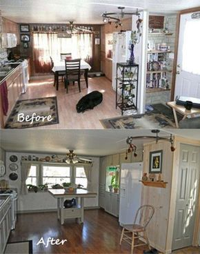 Before And After Single Wide Mobile Home Remodel Diy Makeover