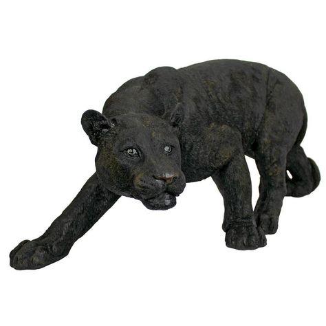Shadowed Predator Black Panther Statue