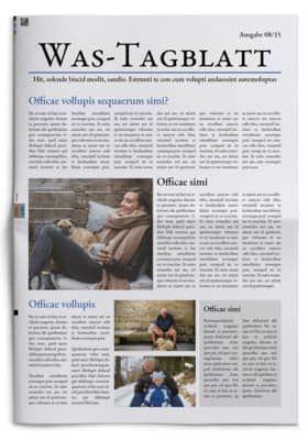 Titelseite Einer Vorlage Aus Unserem Editor Tageszeitung Titelseite Zeitungsdruck