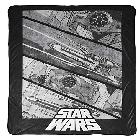 Jay Franco Character 90 x 90 Plush Blankets - Gray - Star Wars