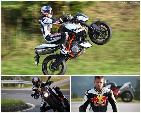 When Felix Baumgartner isn't skydiving from space, he's riding some really sweet wheelies.