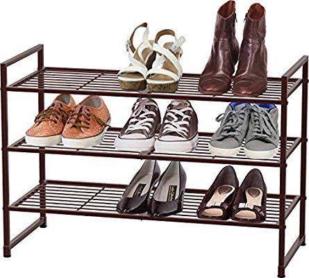 Amazon Com Simple Houseware 3 Tier Stackable Shoes Rack Storage