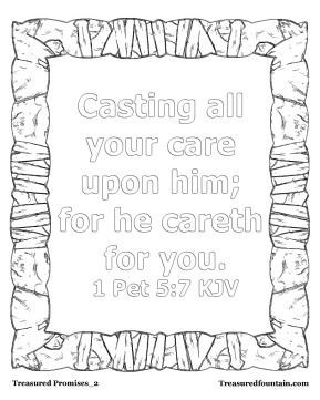 1 Peter 5 7 Bible Verse Coloring Bible Lessons For Kids