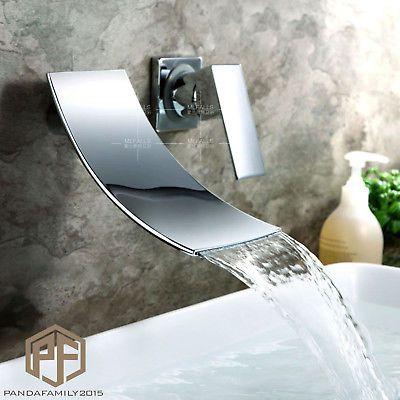 Chrom Unterputz Wasserfall Waschtischarmatur Waschbecken Armatur Bad Wasserhahn Waschtischarmatur Wasserhahn Bad Waschbecken Armaturen
