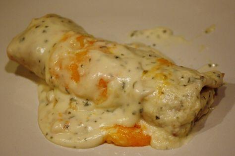 Skinny Sour Cream Enchiladas.
