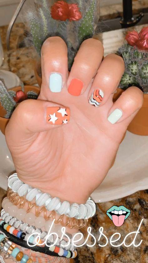 nails nail art vsco girl nail art star nail art colorful