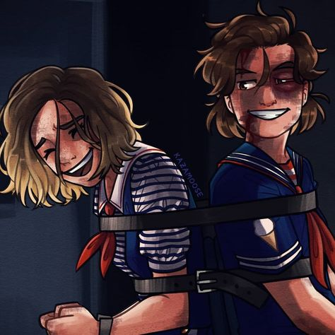 Stranger Things Robin and Steve by kazam, kazamoose, Scoops Ahoy Ice Cream, Maya Hawke, Joe Keery
