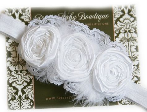 White roses with netting.
