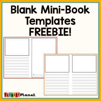 Free Blank Mini Book Templates Book Writing Template Book Template Mini Books