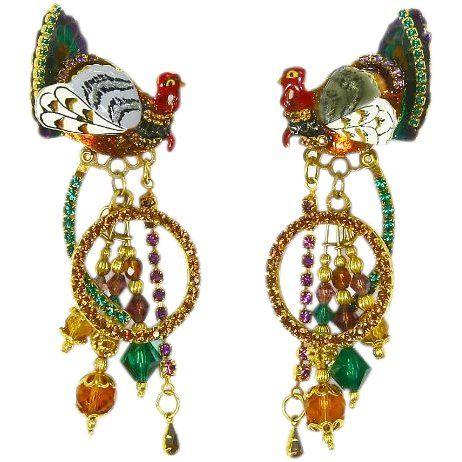 b8c721f5b5b17 Vintage Lunch at the Ritz Earrings –'Talkin' Turkey'-1997   A ...