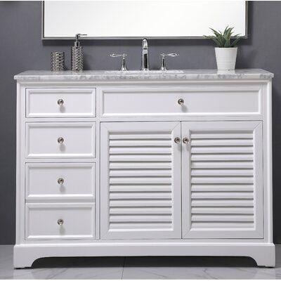 Holiday 48 Single Bathroom Vanity Set Base Finish White In 2020 Single Bathroom Vanity Vanity Set Vanity