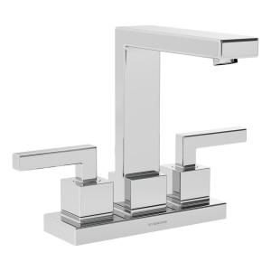 Symmons Duro 4 In Centerset 2 Handle Bathroom Faucet With Drain Assembly In Polished Chrome Slc 3612 1 0 The Home Depot Bathroom Faucets Sink Faucets Symmons