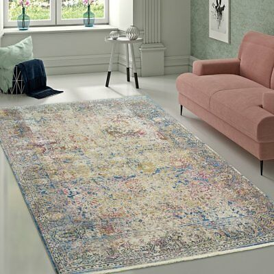 Details About Large Colourful Carpet Flat Pile Living Area Mat Elegant Vintage Oriental Rug Dizajn Idei Krasnyj