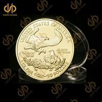 American Goddess Gold Plated Coin Replica Liberty Eagles