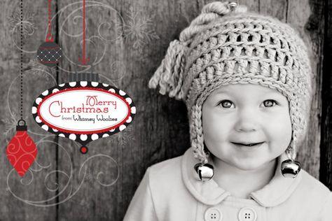 """PATTERN: """"Jingle Bell Rock"""" Crocheted Hat, 6-12mo"""