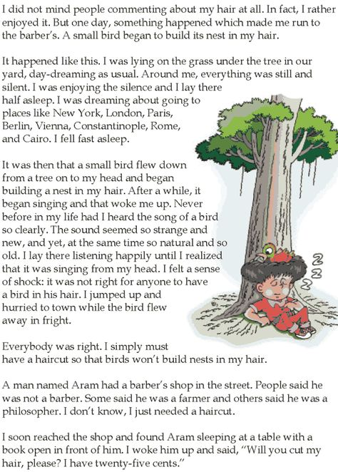 Grade 5 Reading Lesson 25 Short Stories The Barbers Uncle 1 ...
