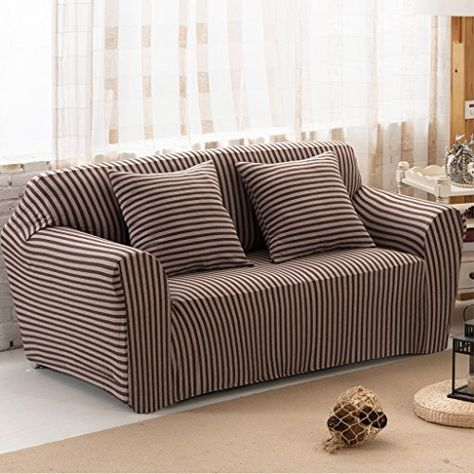 Uozzi Cotton Stretch Sofa Slipcover 1 Piece Striped Stre Https