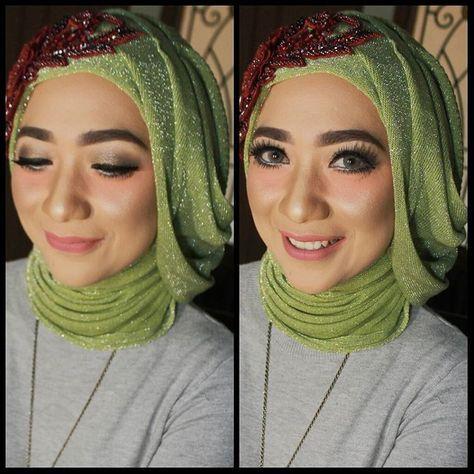 Trial Wedding Make Up Elin Make Up Certified Make Up Artist Bandung Available For Wedding Graduation Prewedding In 2020 Party Makeup Wedding Makeup Muslim Bride