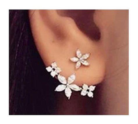 Diamond ear jackets double side earrings by BodyKandyCouture