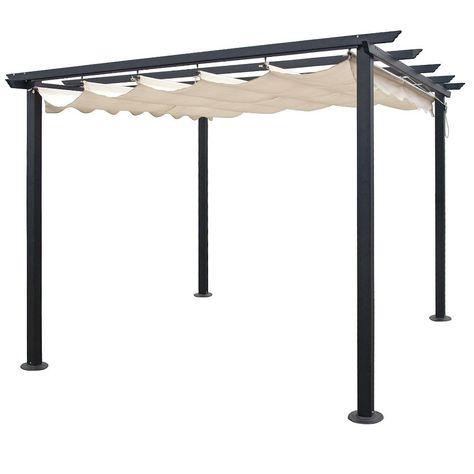 Design-Pergola Alu, pulverbeschichtetes Aluminium, Dach: 100 ...
