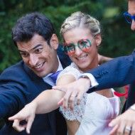A Yellow DIY Wedding: Bow Ties, Pugs, Balloons  A Floral Sash » Favdig
