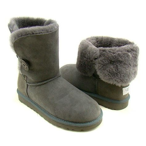 2 Day Sale UGG Classic Gray Short Bailey Button